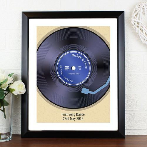 Personalised Retro Vinyl Black Poster Frame